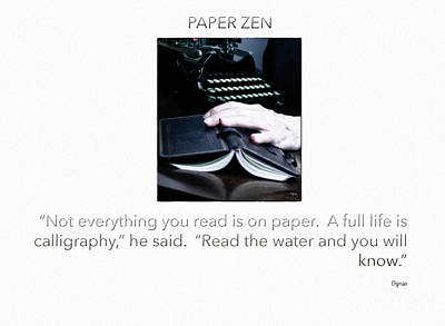 Books Photograph - Paper Zen  by Steven Digman