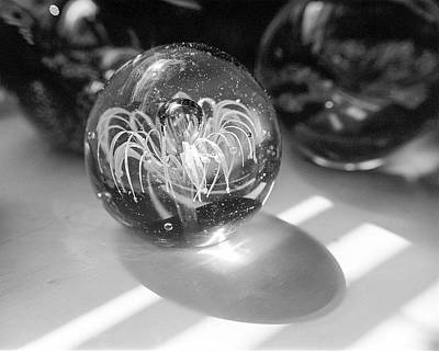Art Glass Photograph - Paperweight And Morning Sun by Jon Woodhams