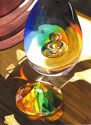 Paperweight Painting - Paperweights by Catherine G McElroy