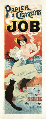 Ballerina Art - Papier a Cigarettes Job - Tobacco - Vintage Advertising Poster by Studio Grafiikka