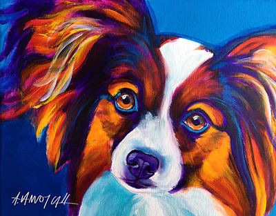 Dog Painting - Papillon - Butterfly by Alicia VanNoy Call