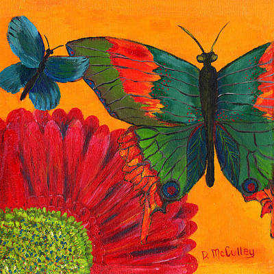 Gerbera Painting - Papillon Jaune by Debbie McCulley