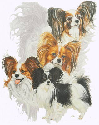 Papillon W/ghost Art Print by Barbara Keith
