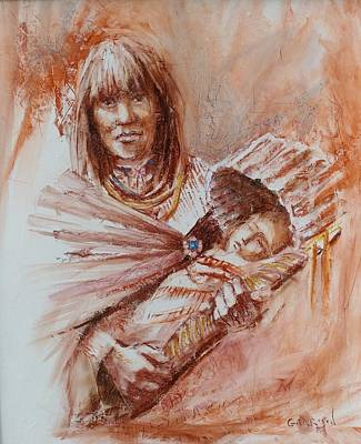 Painting - Mother And Child by David Garrison