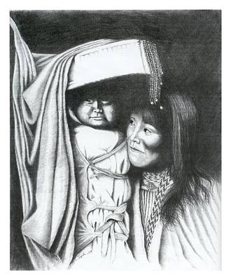 Drawing - Papoose by Lawrence Tripoli