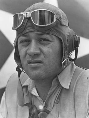 Of Tigers Photograph - Pappy Boyington - Ww2 by War Is Hell Store