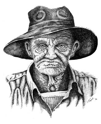 Drawing - Pappy by Lawrence Tripoli