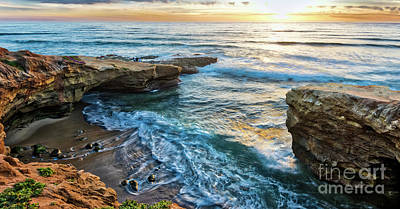 Photograph - Pappy's Point At Sunset Cliffs by David Levin