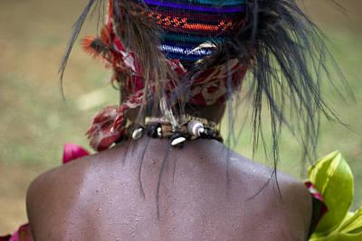 Mudman Photograph - Papua New Guinea Tribal Wear by Polly Rusyn
