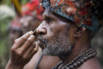 Mudman Photograph - Papua New Guinea Tribesman by Polly Rusyn