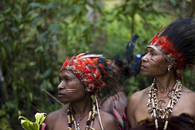 Mudman Photograph - Papua New Guinea Tribeswomen by Polly Rusyn