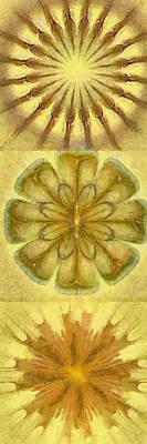 Tenn Painting - Papyrine Essentiality Flower  Id 16165-210427-16760 by S Lurk