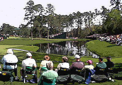 Masters Golf Photograph - Par Threes Are Dangerous by David Bearden