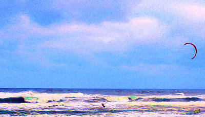 Sports Paintings - Para-Surfer 3 by CHAZ Daugherty