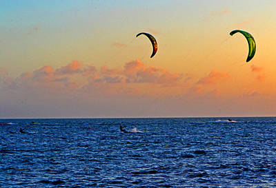 Para-surfing In Key West 003 Art Print