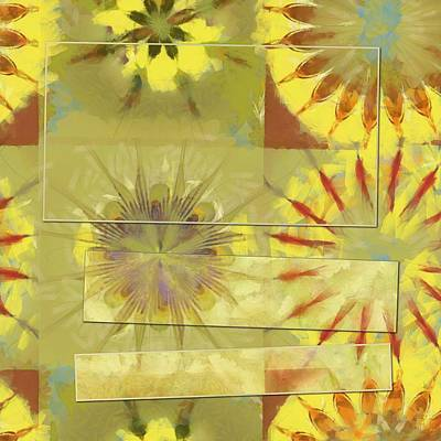 Slate Pattern Painting - Parabenzoquinone Strategy Flower  Id 16165-232106-04141 by S Lurk