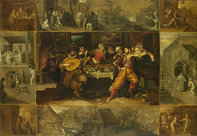 Guitar God Painting - Parable Of The Prodigal Son by Frans Francken the Younger