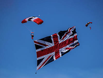 Skydiving Photograph - Parachutist by Martin Newman