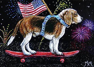 Parade Beagle Original by Monique Morin Matson