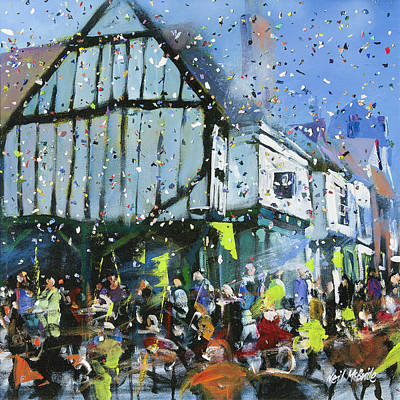 Gathering Painting - Parade In York by Neil McBride