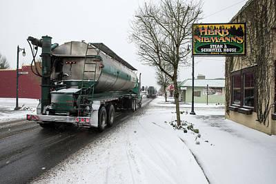 Photograph - Parade Of Liquid Feed Trucks by Tom Cochran