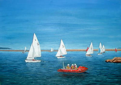 Painting - Parade Of Sail, 2009 - West Kirby Marine Lake by Peter Farrow
