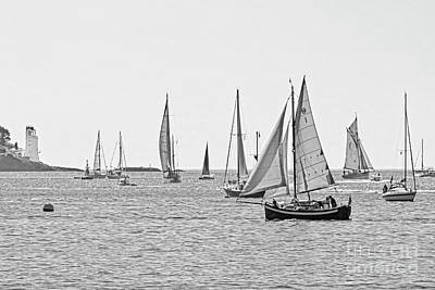 Photograph - Parade Of Sail In Monochrome by Terri Waters