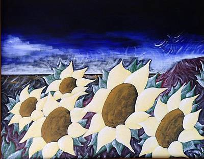 Painting - Parade Of Sunflowers  by Heidi Moss