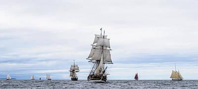 Photograph - Parade Of Tall Ships by Bob VonDrachek