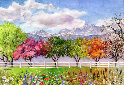 Painting - Parade Of The Seasons by Anne Gifford