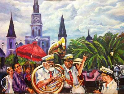 Painting - Parade Past The Cathedral by Beverly Boulet