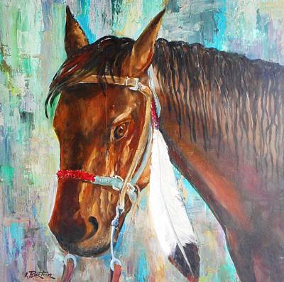 Lynn Burton Wall Art - Painting - Parade Pony by Lynn Burton