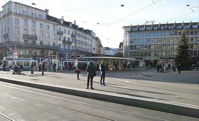 Travel Pics Royalty-Free and Rights-Managed Images - Paradeplatz - Bahnhofstrasse, Zurich by Travel Pics