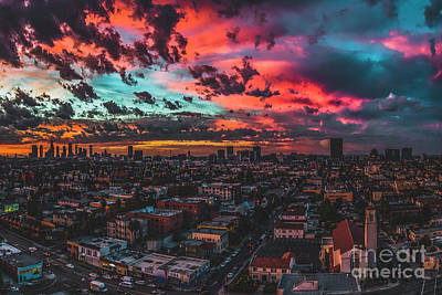 Los Angeles Skyline Photograph - Paradise  by Art K
