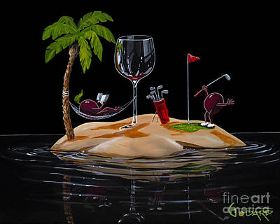 Wine Grapes Painting - Paradise At Last by Michael Godard