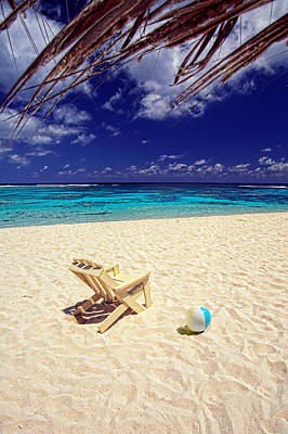 Photograph - Paradise Beach Ball by Gary Felton