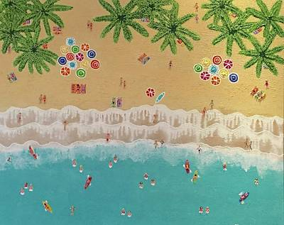 Painting - Paradise Beach by Elizabeth Langreiter