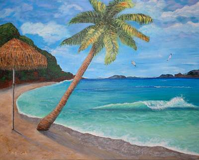 North Sea Painting - Paradise by Donna Cook
