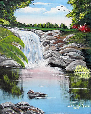 Painting - Paradise Falls by Luis F Rodriguez