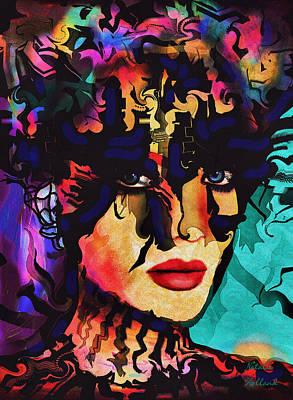 Mixed Media - Paradise Goddess by Natalie Holland