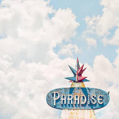 Signs Photograph - Paradise by Humboldt Street