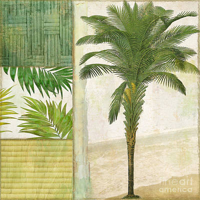 Leaf Green Painting - Paradise I by Mindy Sommers