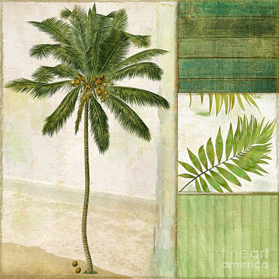 Leaf Green Painting - Paradise II Palm Tree by Mindy Sommers