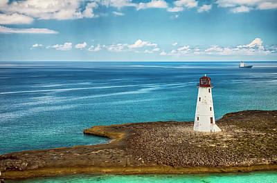 Photograph - Paradise Island Lighthouse by Mick Burkey