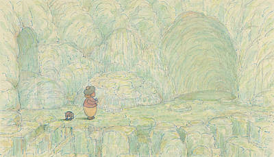 Paradise Drawing - Paradise, Jes' Billy An' Me, An All The World Great Big Caves Of Sugar  by Herbert Crowley