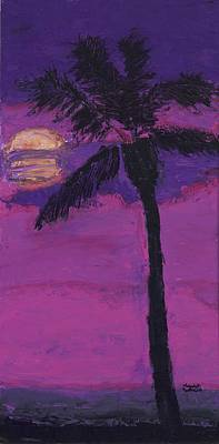 Pallet Knife Mixed Media - Paradise Palm by Maggie  Morrison