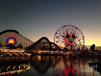 Rollercoaster Photograph - Paradise Pier Disneyland by Stephen Pearson