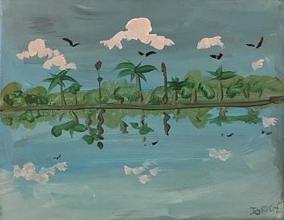 Easterseals Painting - Paradise Reflection by Jorge B