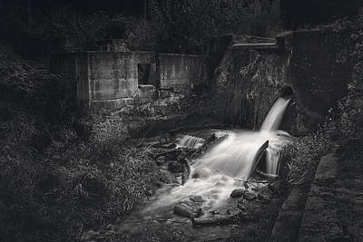 Rainy Day - Paradise Springs Dam and Turbine House Ruins by Scott Norris