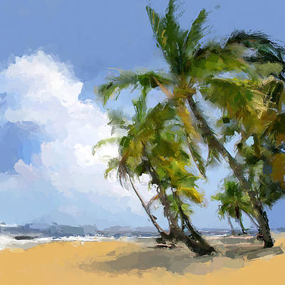 Paradise Tropical Beach Art Print by Anthony Fishburne